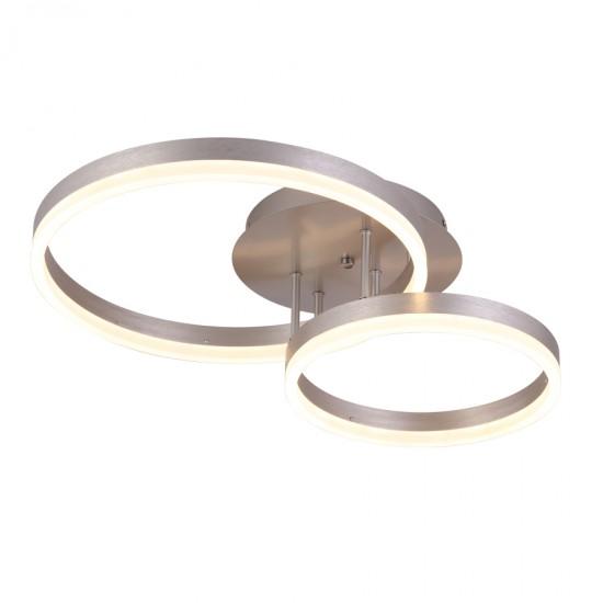 LED ΦΩΤΙΣΤΙΚΟ ΟΡΟΦΗΣ ΚΥΚΛΟΙ CCT ΑΣΗΜΙ C88059/2-SLV | SUNLIGHT Φωτιστικά Οροφής - Πλαφονιέρες