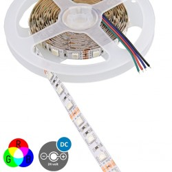5 ΜΕΤΡΑ ΤΑΙΝΙΑ LED 5M 14,4W 24V RGB IP20 VALUE - EUROLAMP