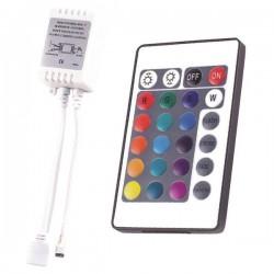ΑΣΥΡΜΑΤΟ IR CONTROLLER RGB DC 5V/30W 12V/72W 24V/144W - EUROLAMP