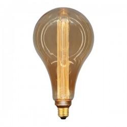 ΛΑΜΠΑ LED ΑΧΛΑΔΙ P165 3,5W Ε27 2000K 220-240V GOLD GLASS DIMMABLE - EUROLAMP