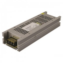 ΤΡΟΦΟΔΟΤΙΚΟ ΜΕΤΑΛΛΙΚΟ SLIM 12V DC 200W IP20 - EUROLAMP