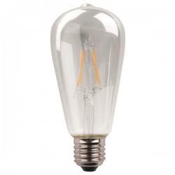 ΛΑΜΠΑ LED ST64 CROSSED FILAMENT 11W E27 4000K 220-240V DIMMABLE CLEAR - EUROLAMP