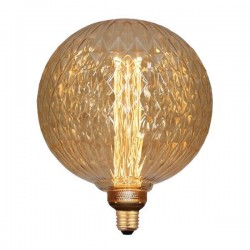 ΛΑΜΠΑ LED ΓΛΟΜΠΟΣ G200 3,5W Ε27 2000K 220-240V GOLD GLASS DIMMABLE - EUROLAMP