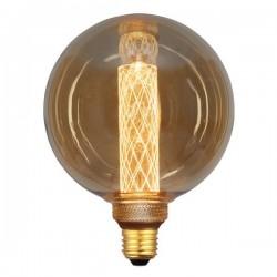 ΛΑΜΠΑ LED G125 3,5W Ε27 2000K 220-240V GOLD GLASS DIMMABLE EUROLAMP