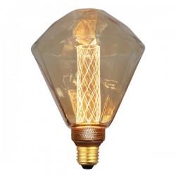 ΛΑΜΠΑ LED ΔΙΑΜΑΝΤΙ G125 3,5W Ε27 2000K 220-240V GOLD GLASS DIMMABLE EUROLAMP