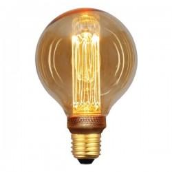 ΛΑΜΠΑ LED G95 3,5W Ε27 2000K 220-240V GOLD GLASS DIMMABLE EUROLAMP